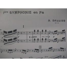 DALLIER Henri 1e Symphonie Orchestre 1908