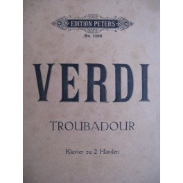 VERDI Giuseppe Troubadour