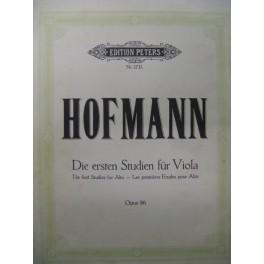 HOFMANN Richard Etudes pour Alto