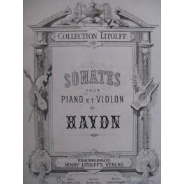 HAYDN Joseph Sonates pour piano et violon