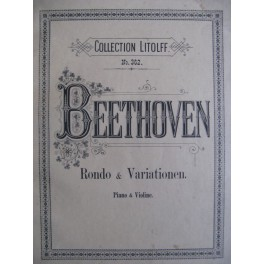 BEETHOVEN Ludwig van Rondo & Variationen