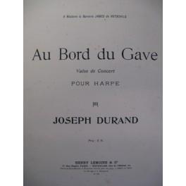 DURAND Joseph Au Bord du Gave Harpe ca1900