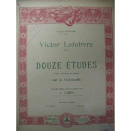 LEFEBVRE Victor 12 Etudes 2ème Suite Violoncelle