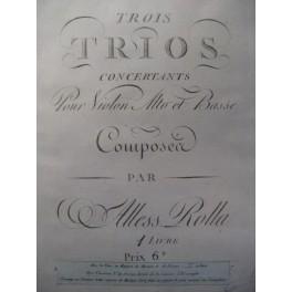 ROLLA Alessandro 3 Trios Violon Alto 1795