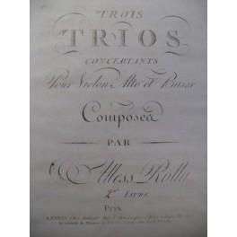 ROLLA Alessandro Trios Violon Alto 1795