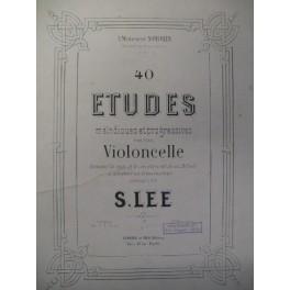 LEE S. 40 Etudes 1er Livre Violoncelle 1875