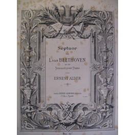 BEETHOVEN Septuor op. 20 Piano ca1880