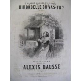 DAUSSE Alexis Hirondelle où vas-tu Chant Piano ca1850