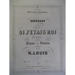 LOUIS N. Si j'étais roi A. Adam Violon Piano XIXe