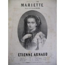 ARNAUD Etienne Mariette Chant Piano XIXe