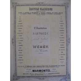 WEBER L'Invitation à la Valse Piano ca1880