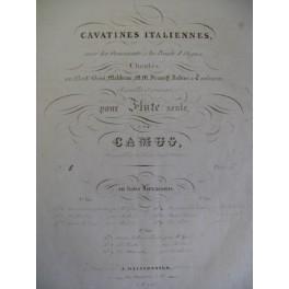 CAMUS Cavatines Italiennes Flute seule 1836