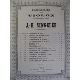SINGELÉE J. B. Les Huguenots Violon Piano 1875