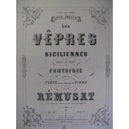 REMUSAT J. Les Vêpres siciliennes Flute ca1865