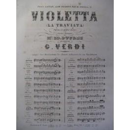 VERDI Giuseppe Violetta n° 3 Chant Piano ca1865