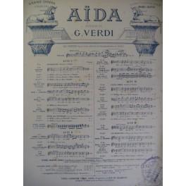 VERDI Giuseppe Aïda n° 7 Chant Piano 1885