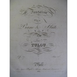 TULOU Jean-Louis Fantaisie op.27 Flute ca1830