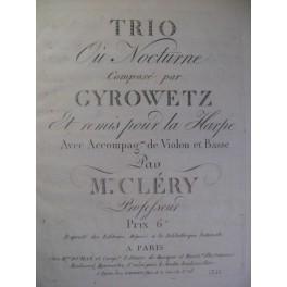 GYROWETZ Adalbert Nocturne Violon Basse ca1800