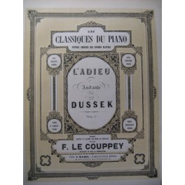 DUSSEK J. L. L'adieu Piano XIXe