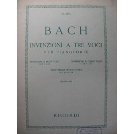 BACH J. S. Inventions à 3 voix Piano 1951