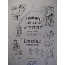 DE VILBAC Airs Populaires Violon Piano 1886