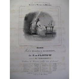 DE FLOTOW F. Marie Chant Piano ca1840