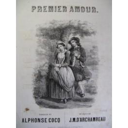 D'ARCHAMBEAU J. M. Premier Amour Chant Piano 1855