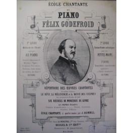 GODEFROID Félix Prière des Bardes Piano ca1860