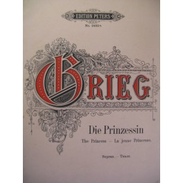 GRIEG Edvard Die Prinzessin Chant Piano