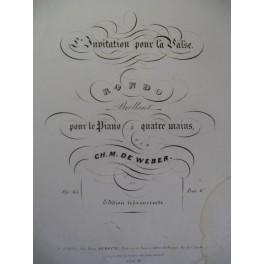 WEBER L'Invitation à la Valse Piano 4 mains ca1840