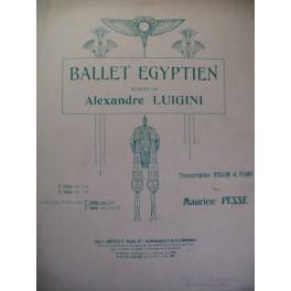 LUIGINI Alexandre Ballet Egyptien Violon 1928