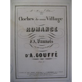 GOUFFÉ A. Les Cloches de mon Village Chant Piano ca1850