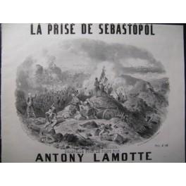 LAMOTTE Antony La Prise de Sebastopol Piano ca1850