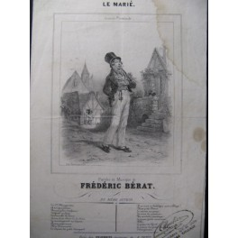 BÉRAT Frédéric Le Marié Chant Guitare ca1850
