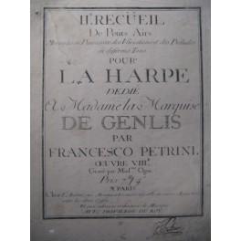 PETRINI Francesco Recueil Harpe 1774
