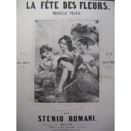 ROMANI Stenio La Fête des Fleurs Piano XIXe