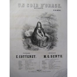 DENTU M. G. Un Soir d'Orage Chant Piano ca1850