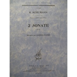 SCHUMANN Robert 2e Sonate Piano 1951