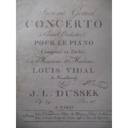 DUSSEK J. L. 6e Concerto Piano ca1810