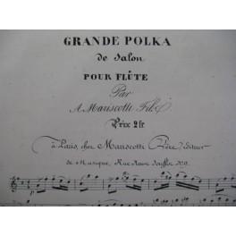 MARISCOTTI Grande Polka Flute XIXe
