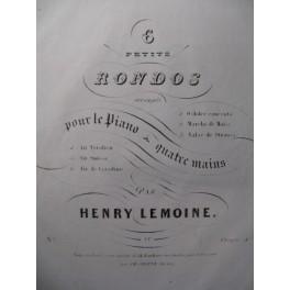 LEMOINE Henry Air de Coradino Piano 4 mains ca1844