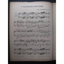 CHOPIN Frédéric Polonaise op71 n° 1 Piano 1916