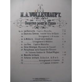 WOLLENHAUPT H. A. Scherzo Brillant Piano 1873