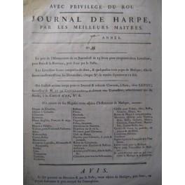 DALAYRAC Renaud d'Ast Air Chant Harpe 1787