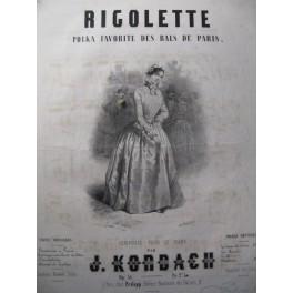 KORBACH J. Rigolette Piano ca1850