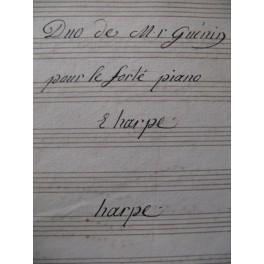 GUÉNIN Marie Alexandre Duo Harpe Piano XVIIIe