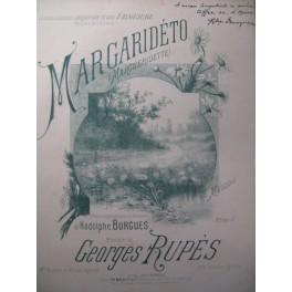 RUPÈS Georges Margaridéto Chant Piano XIXe
