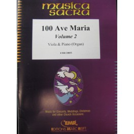 100 Ave Maria Vol 2 Alto Piano Orgue