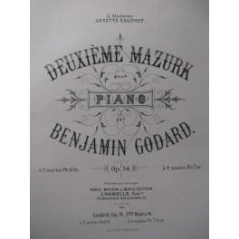 GODARD Benjamin 2e Mazurk Piano XIXe