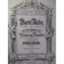DAVID SCHUMANN GRIEG Pièces Violon Piano